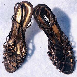 Shimmer Brown and Bronze Sequin Formal Heels